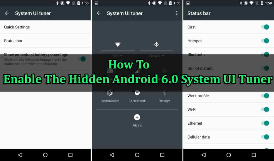 Enable The Hidden Android 6.0 System UI Tuner