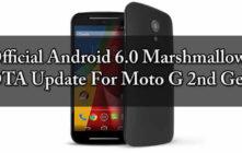 Official Marshmallow OTA Update For Moto G 2nd Gen