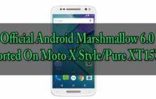 Marshmallow 6.0 On Moto X Style/Pure XT1575
