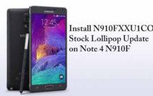 Install N910FXXU1COJ3 Stock Lollipop Update on Note 4 N910F