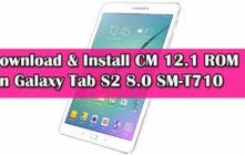 Install CM 12.1 ROM On Galaxy Tab S2 8.0