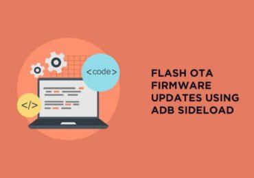 OTA Firmware Updates Using ADB sideload