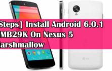 [Steps] Install Android 6.0.1 MMB29K On Nexus 5 Marshmallow