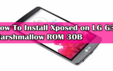 Install Xposed on LG G3 Marshmallow ROM 30B