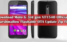 Download Moto G 3rd gen XT1540 Official Marshmallow Flashable OTA Update Zip File