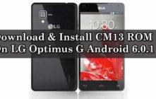 CM13 ROM On LG Optimus G