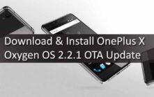 Download & Install OnePlus X Oxygen OS 2.2.1 OTA Update