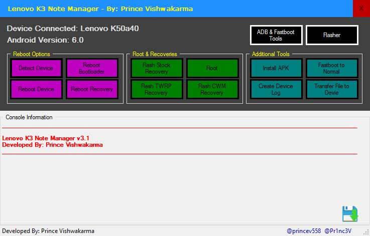Lenovo K3 Note Manager v3.1