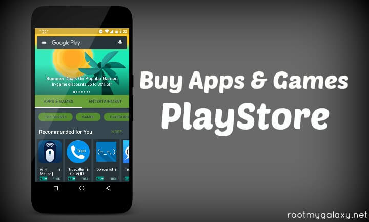 Buy Apps and Games from Google Play Store