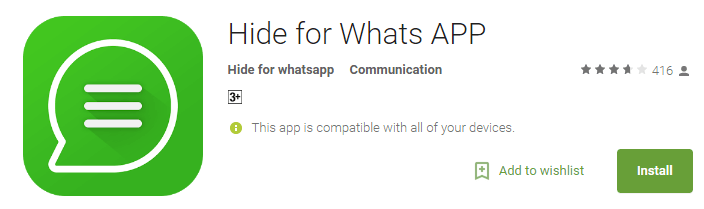 Hide for Whatsapp-Hide Your Online Status In Whatsapp