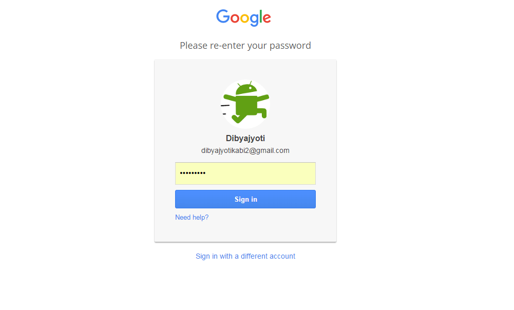 Re-enter Password for 2-Step Verification