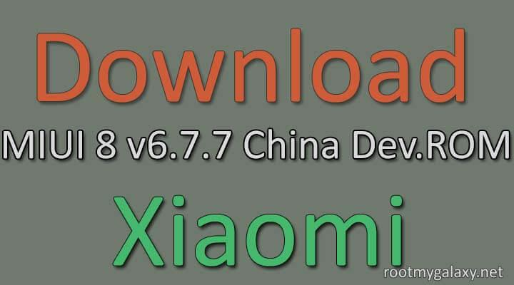 MIUI 8 6.7.7 China Developer ROM
