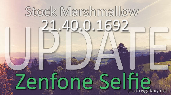 manually Update Zenfone Selfie to Official Marshmallow