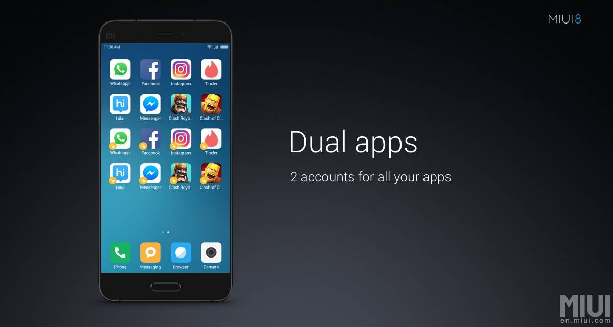 Dual Apps On Scrolling Screenshot
