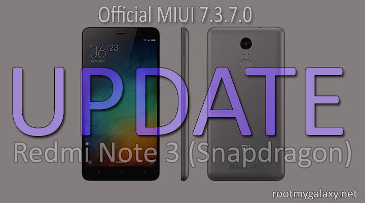Install MIUI 7.3.7.0 Global Stable ROM On Redmi Note 3