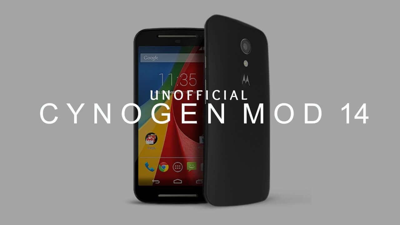 Install CM14 Nougat ROM On Moto G (1st Gen) Android 7.0
