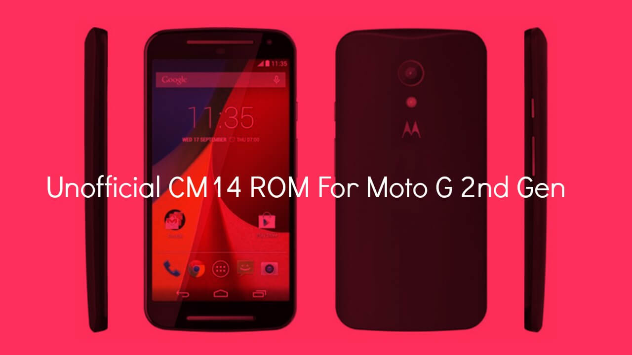 Install CM14 Nougat ROM On Moto G 2nd Gen Android 7.0
