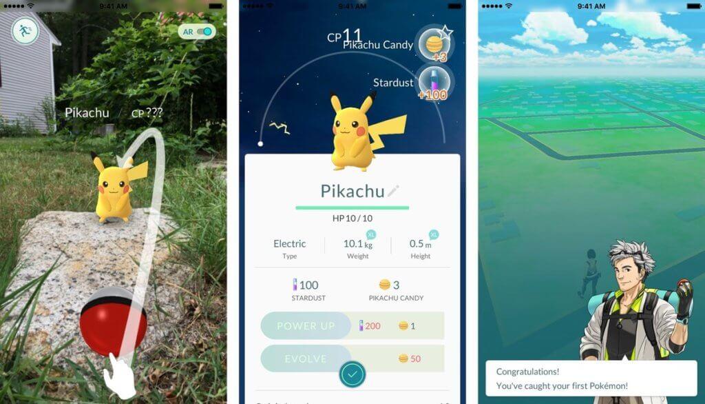 Catch Pikachu In The Beginning Of Pokemon Go