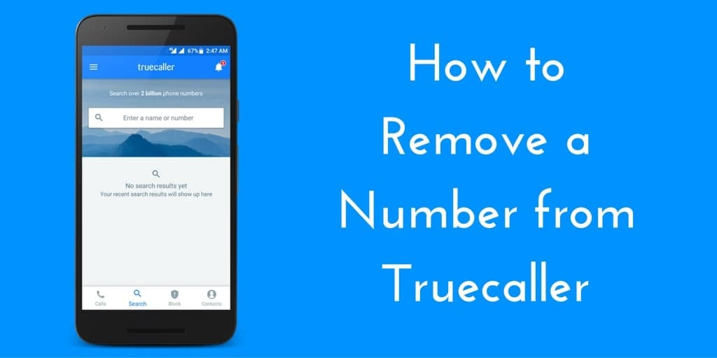 Remove a Number from Truecaller