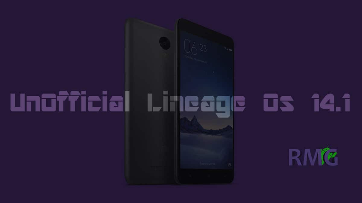 Download and Install Official Lineage Os 14.1 On Xiaomi Redmi Note 3