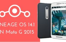 LINEAGE OS 14.1 ON Moto G 2015