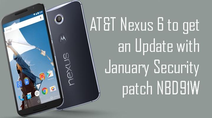 AT&T Nexus 6 NBD91W OTA