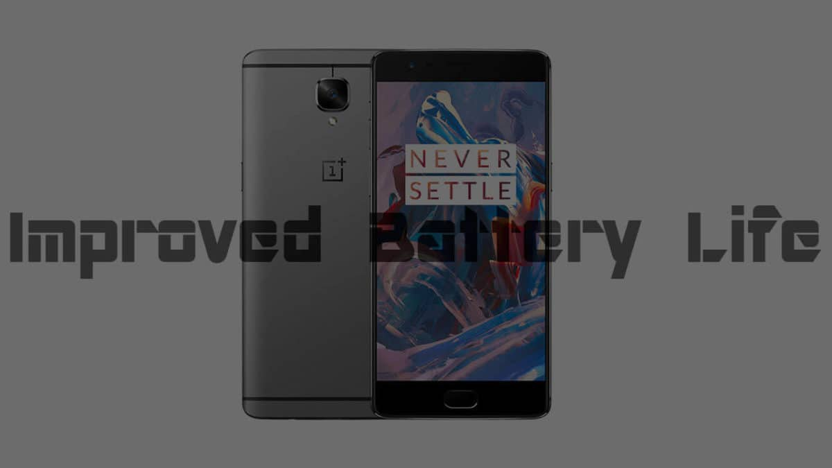 7 to 8 hours of screen on time by the oneplus 3 kernel tweak