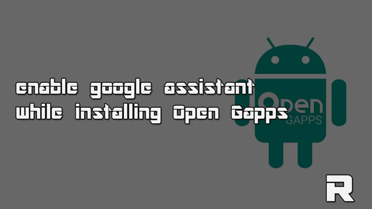 Enable google assistant while installing Open Gapps