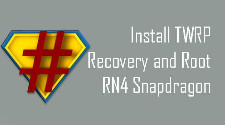 Install TWRP recovery and root Redmi Note 4 (Snapdragon)