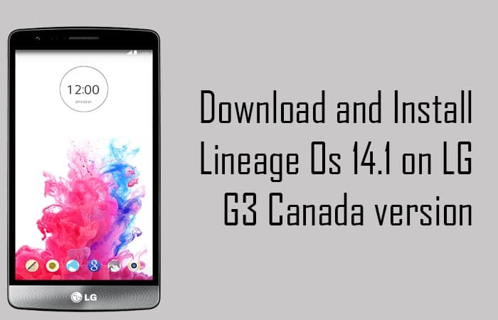 Lineage Os 14.1 on LG G3