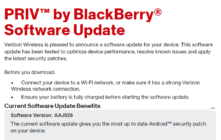 Verizon rolling out March security patch update to the Blackberry PRIV.