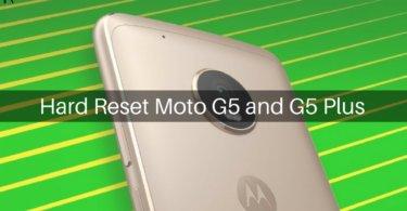 Hard Reset Moto G5 and G5 Plus