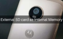 External SD card as Internal Memory