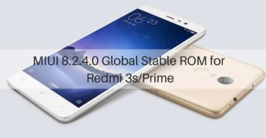 MIUI 8.2.4.0 Global Stable ROM on Redmi 3s/Prime