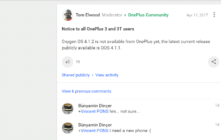 OxygenOS 4.1.2 update for OnePlus 3 and OnePlus 3T is Fake!!