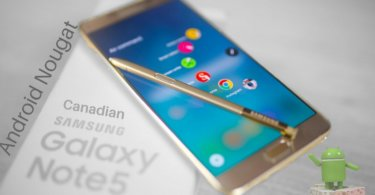 Android Nougat on Canadian Galaxy Note 5