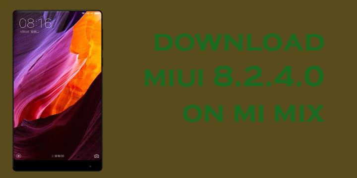 MIUI 8.2.4.0 on Xiaomi MI Mix