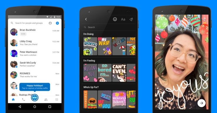Messenger turns Snapchat