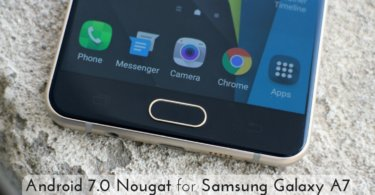 Android 7.0 Nougat on Samsung Galaxy A7