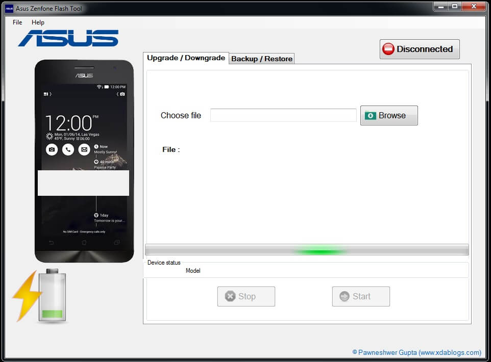Latest ASUS Zenfone Flash tool 2.0.1 For Windows