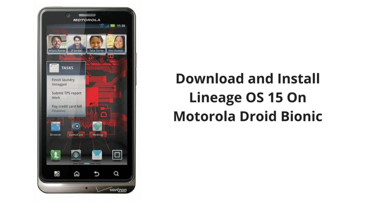 Download and Install Lineage OS 15 On Motorola Droid Bionic