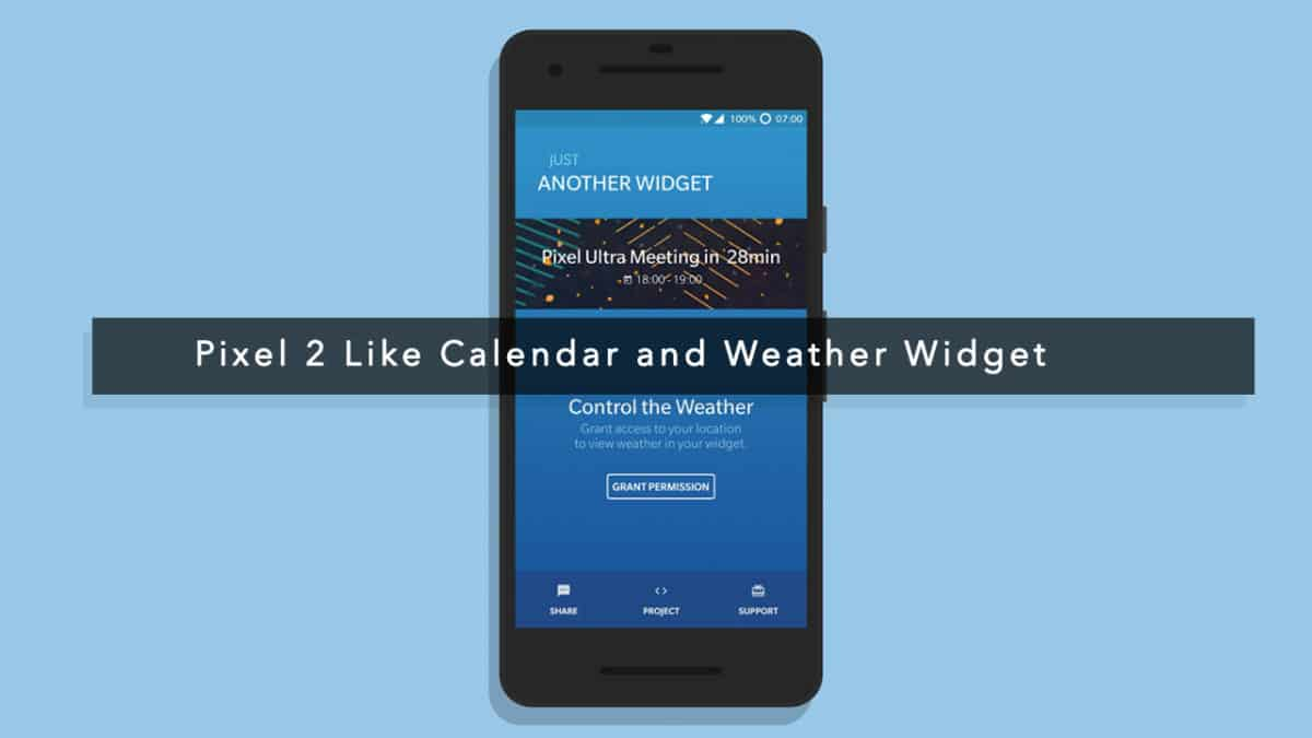 Pixel 2 Like Calendar and Weather Widget