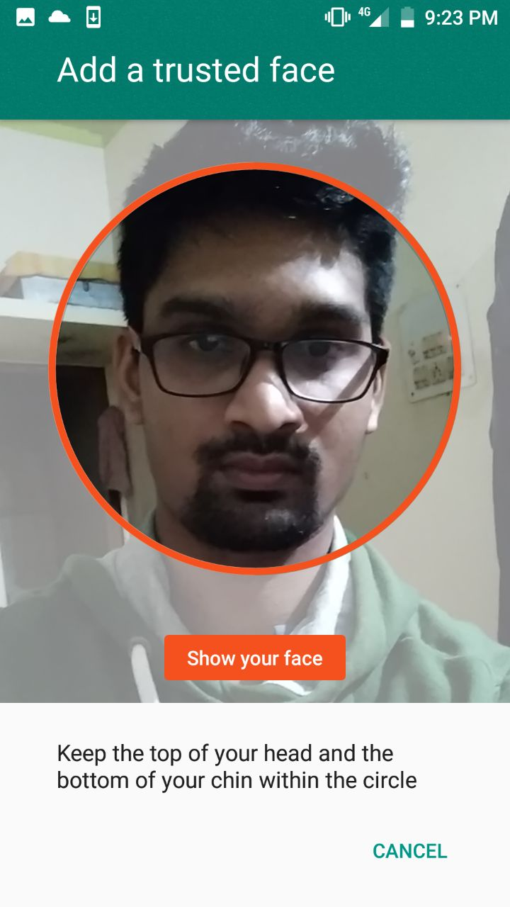 Android Trusted Face Setup