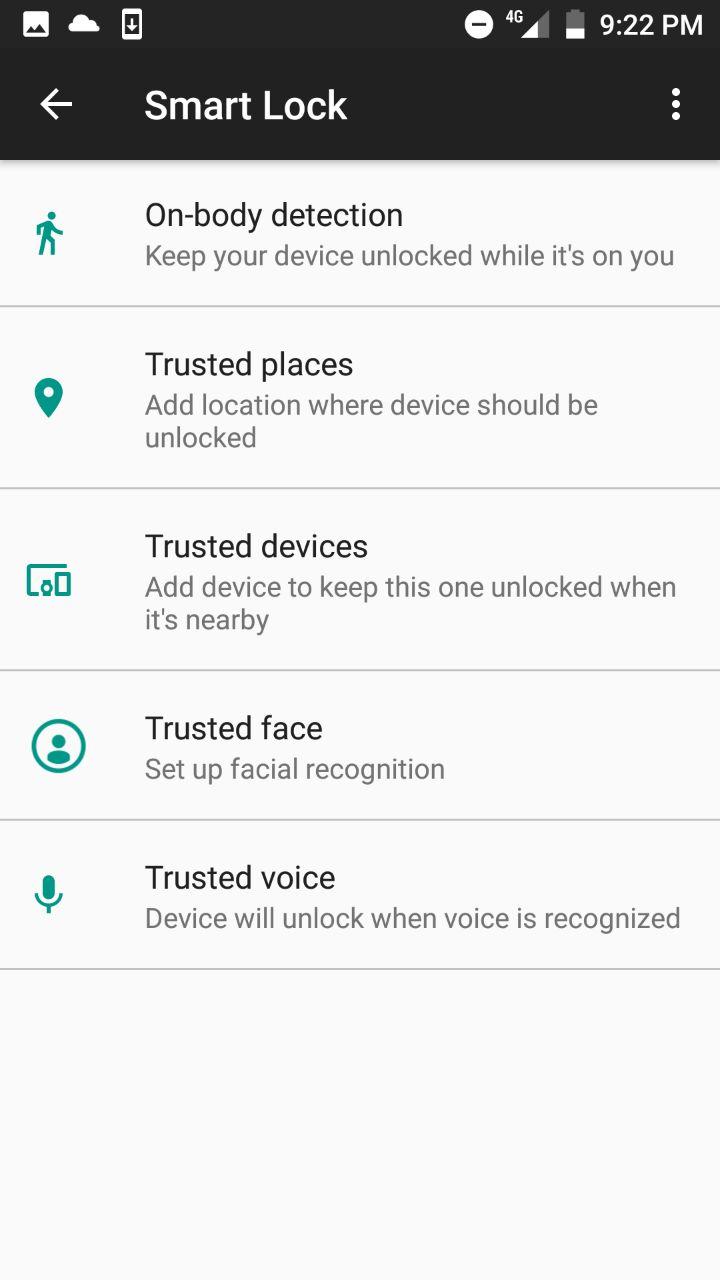 Smart Lock > Trusted Face