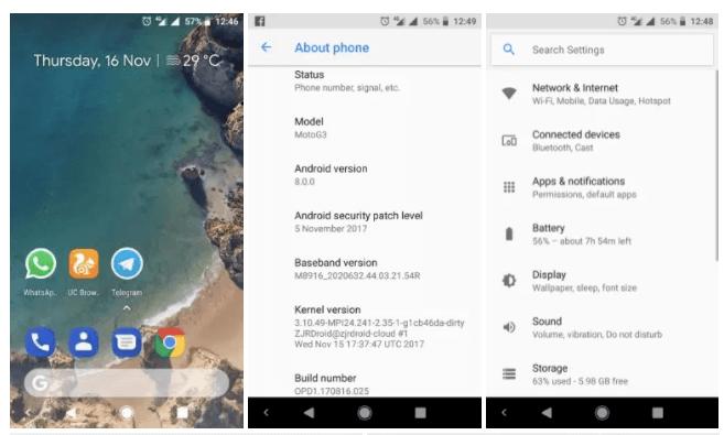 Google Pixel 2 ROM Port For Moto G3 and G5