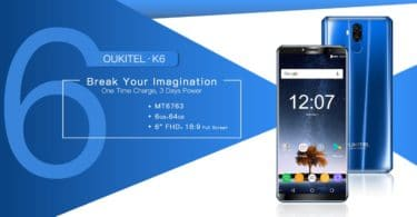 OUKITEL K6 Official Android Oreo 8.0/8.1Update
