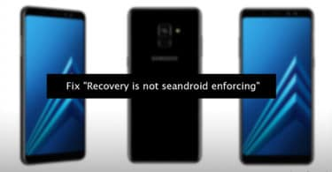 "Fix ""Recovery is not seandroid enforcing"""