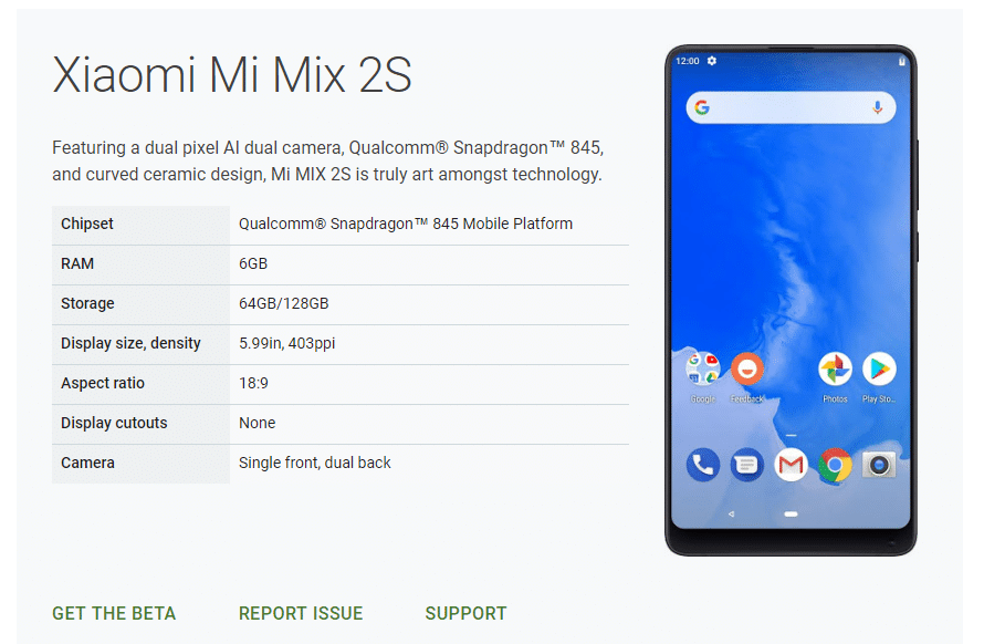 Download and Install Android P (9.0) beta On Xiaomi Mi Mix 2S