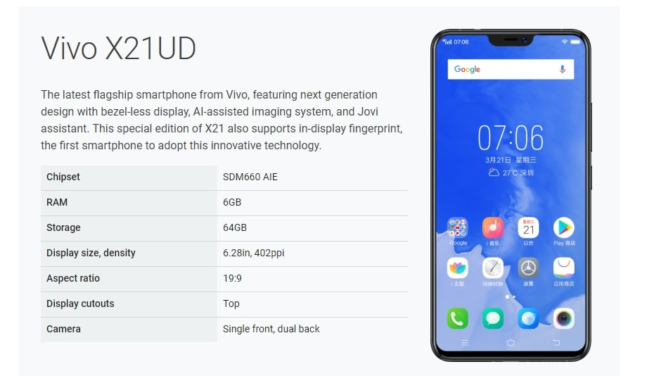Download and Android P (9.0) Beta On Vivo X21 and Vivo X21 UD