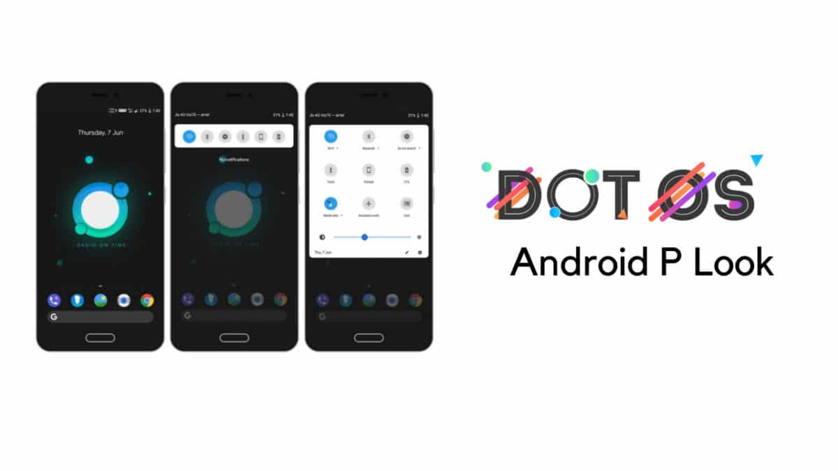 dotOS 2.3 With Android P Look On Lenovo P2